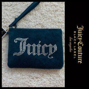 Juicy Couture Black Label Rhinestone Wristlet  NWT